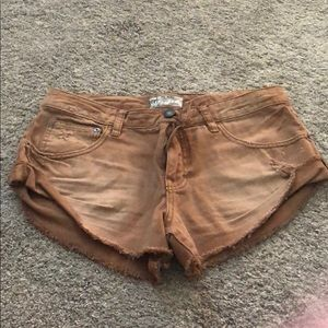 Free People Womens Denim Shorts